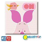 【Manto】DIY數字油畫-粉紅小豬-30*30
