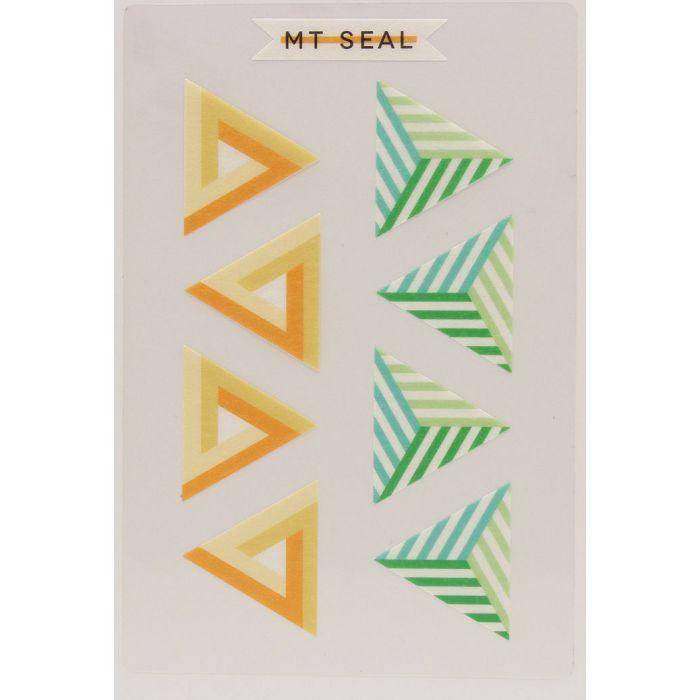 【日本MT和紙膠帶】標籤貼-幾何學三角形