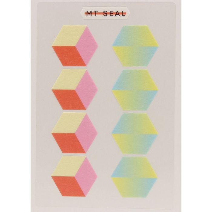 【日本MT和紙膠帶】標籤貼-幾何學六角形