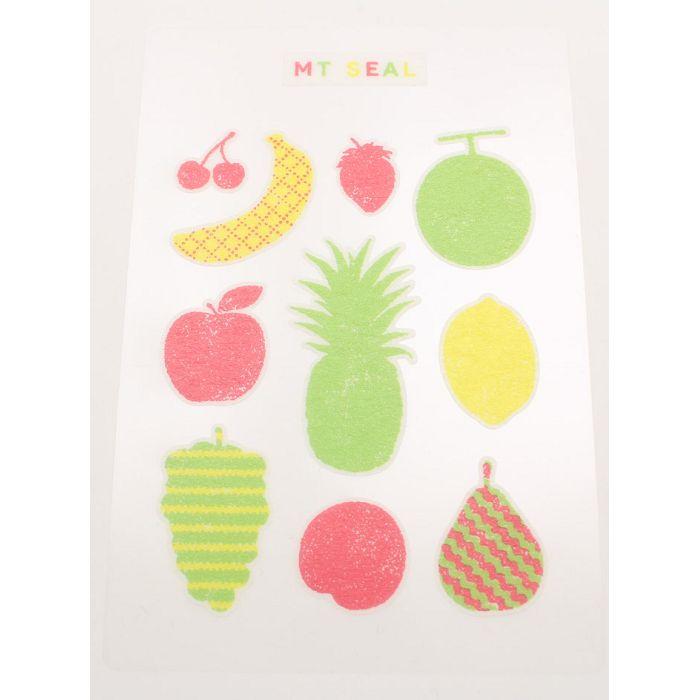 【日本MT和紙膠帶】標籤貼-剪影(水果)