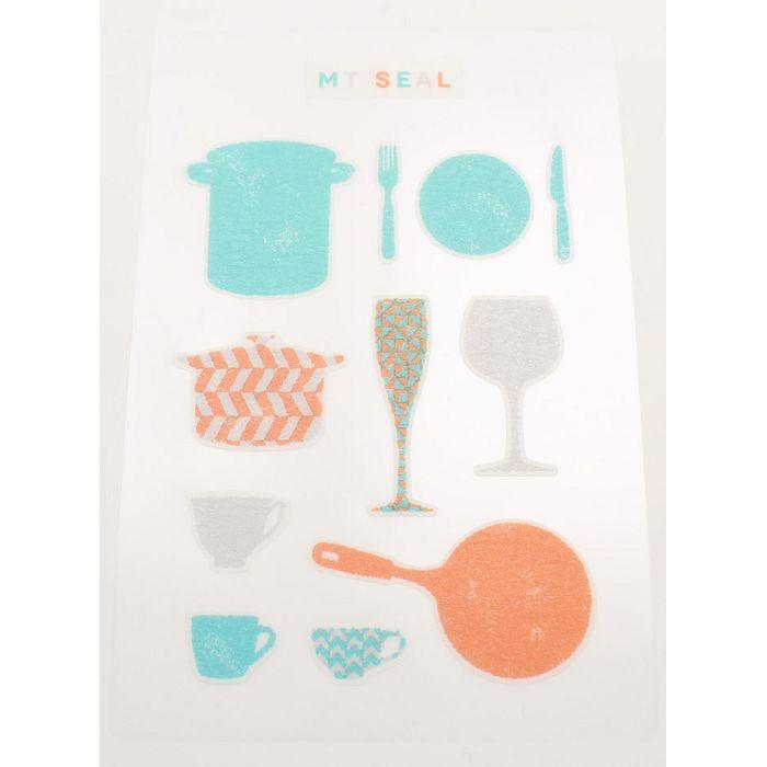 【日本MT和紙膠帶】標籤貼-剪影(食器)