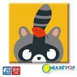 Manto DIY數字油畫-浣熊