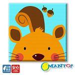 Manto DIY數字油畫-松鼠