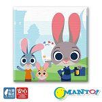 Manto DIY數字油畫-動物方城市-茱蒂-30*30