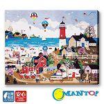 Manto DIY數字油畫-米爾福燈塔樂園-40*50