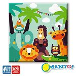Manto DIY數字油畫-森林動物大集合-30*30