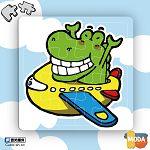 MODA DIY數字油畫拼圖-鱷魚飛行樂