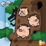 MODA DIY數字油畫拼圖-三隻小豬豬
