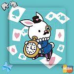 MODA DIY數字油畫拼圖-愛麗絲兔兔