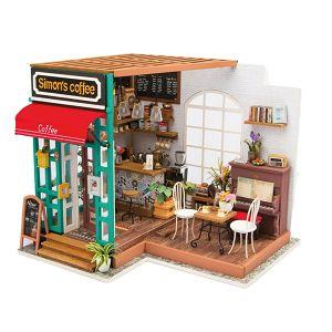 Robotime / DIY小屋-DIY賽門咖啡店