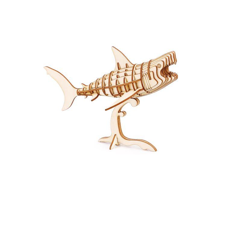 Robotime / DIY 現代拼圖模型-北海.鯊