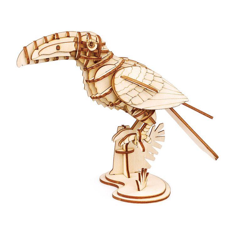 Robotime / DIY 現代拼圖模型-大嘴.鳥