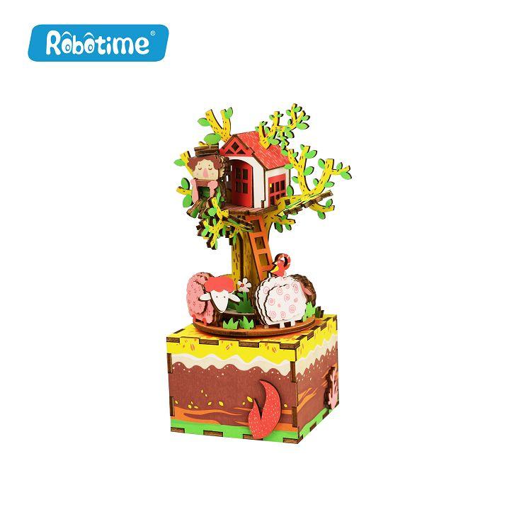 Robotime / DIY八音盒-側耳傾聽