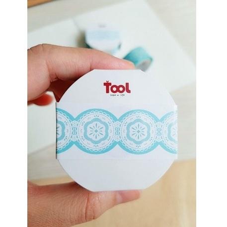 【TooL】Wave波浪紙膠帶/蕾絲藍