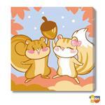 MODA DIY數字油畫-可愛小動物-淘氣松鼠