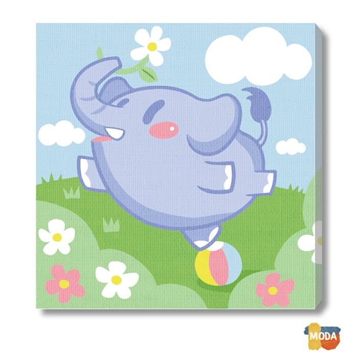 MODA DIY數字油畫-可愛小動物-跳舞大象