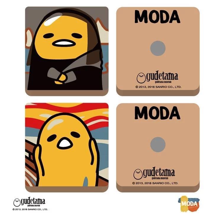 MODA DIY數字油畫-名畫系列-蛋黃哥油畫磁鐵組-A