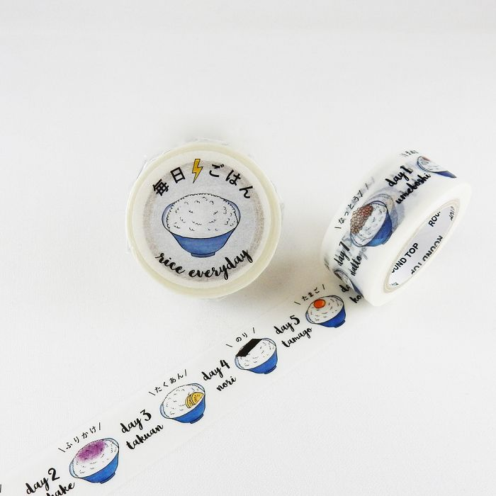 【ROUND TOP】x Nihongo Flashcards 聯名合作 和紙膠帶 - 每日飯食(NF-MK-007)