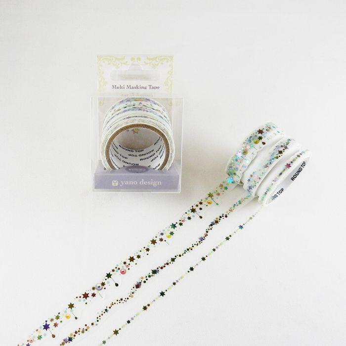 【ROUND TOP】Multi和紙膠帶 feminine箔押系列紙膠帶 - feminine Aurora