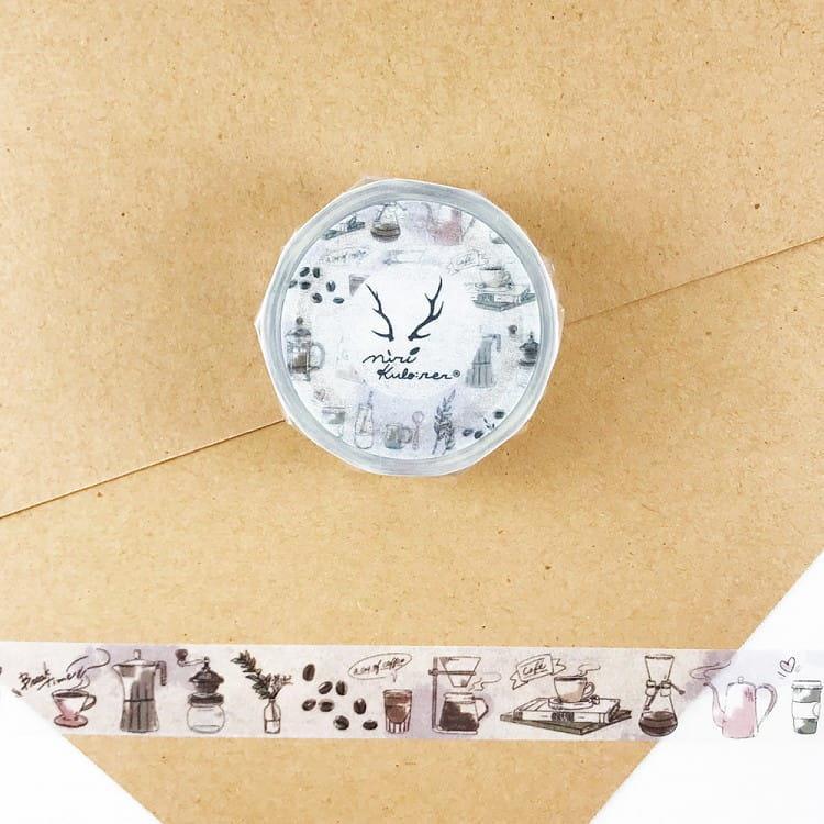 【ROUND TOP】MiriKulo:rer 原創系列和紙膠帶-coffee