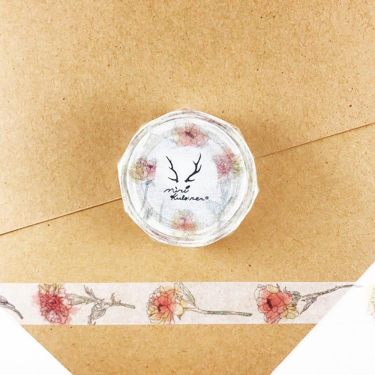 【ROUND TOP】MiriKulo:rer 原創系列和紙膠帶-cut flower