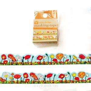 【ROUNDTOP】和紙膠帶yano design系列-罌粟