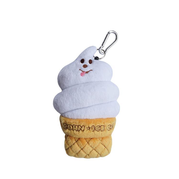 霜淇淋造型票卡包白色