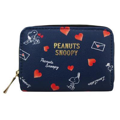 Snoopy票卡零錢包/藍-史努比/愛的信件
