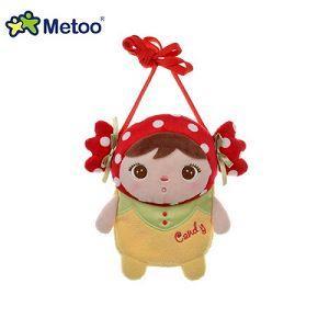 Metoo 吉寶娃娃造型零錢包-紅糖果