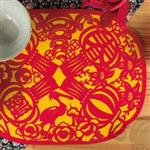 納福系列餐墊-紅黃