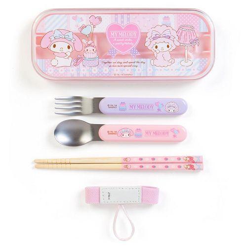 【Sanrio】環保餐具組(附綁帶)-美樂蒂