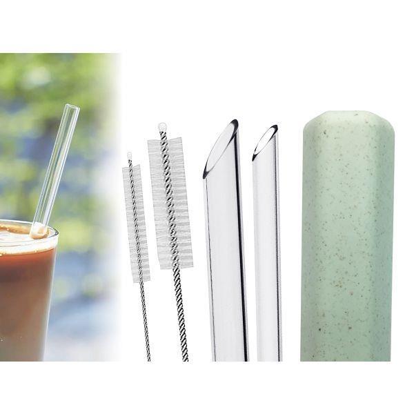 mocode 環保玻璃吸管五件組