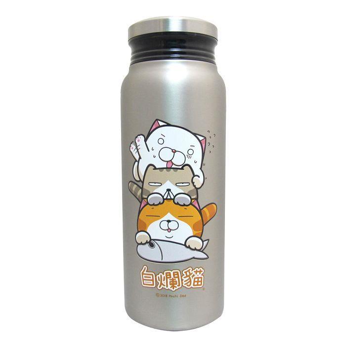 白爛貓真空保溫保冷瓶-不鏽鋼