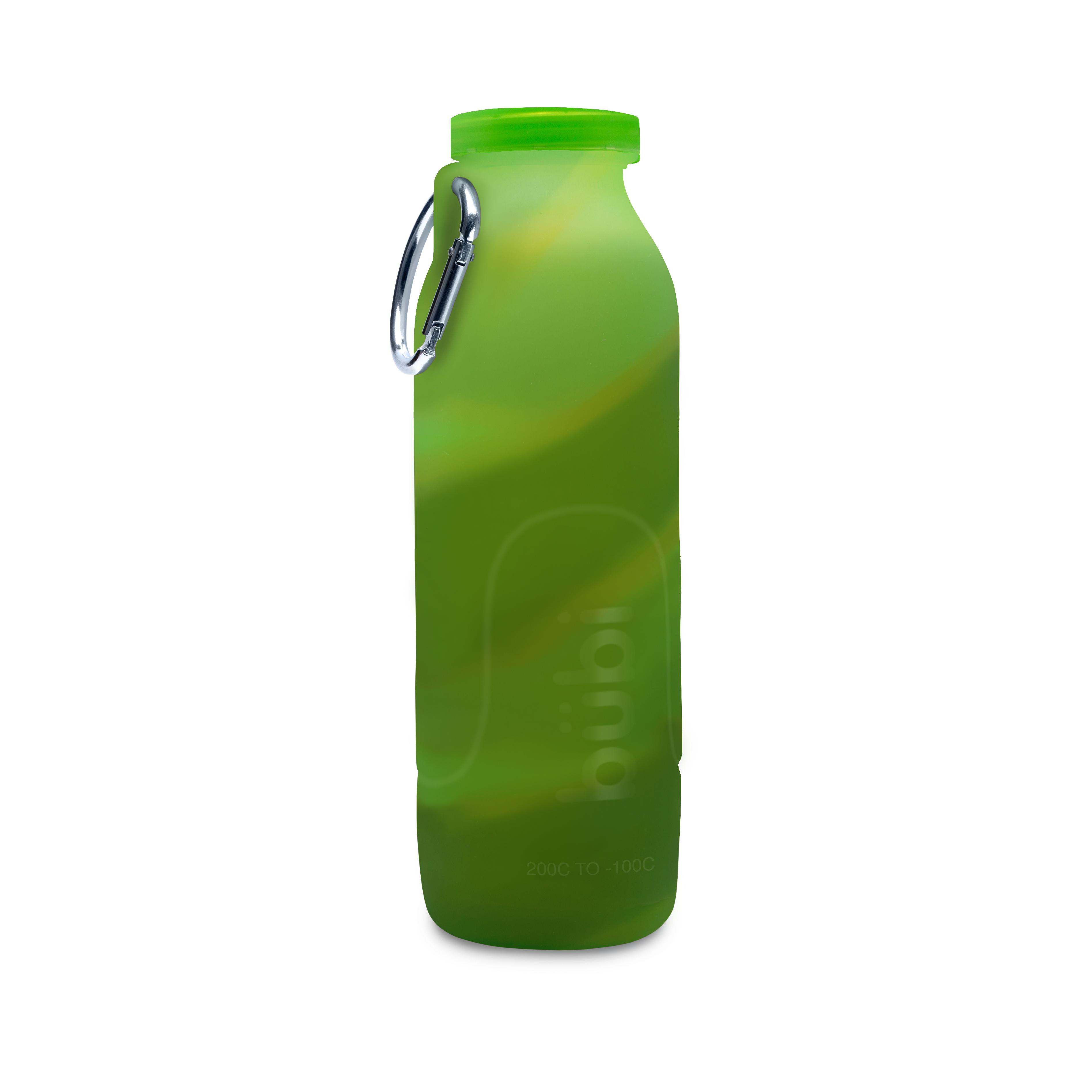 BUBI BOTTLE 矽膠摺疊多功能水壺1000ml-迷彩綠
