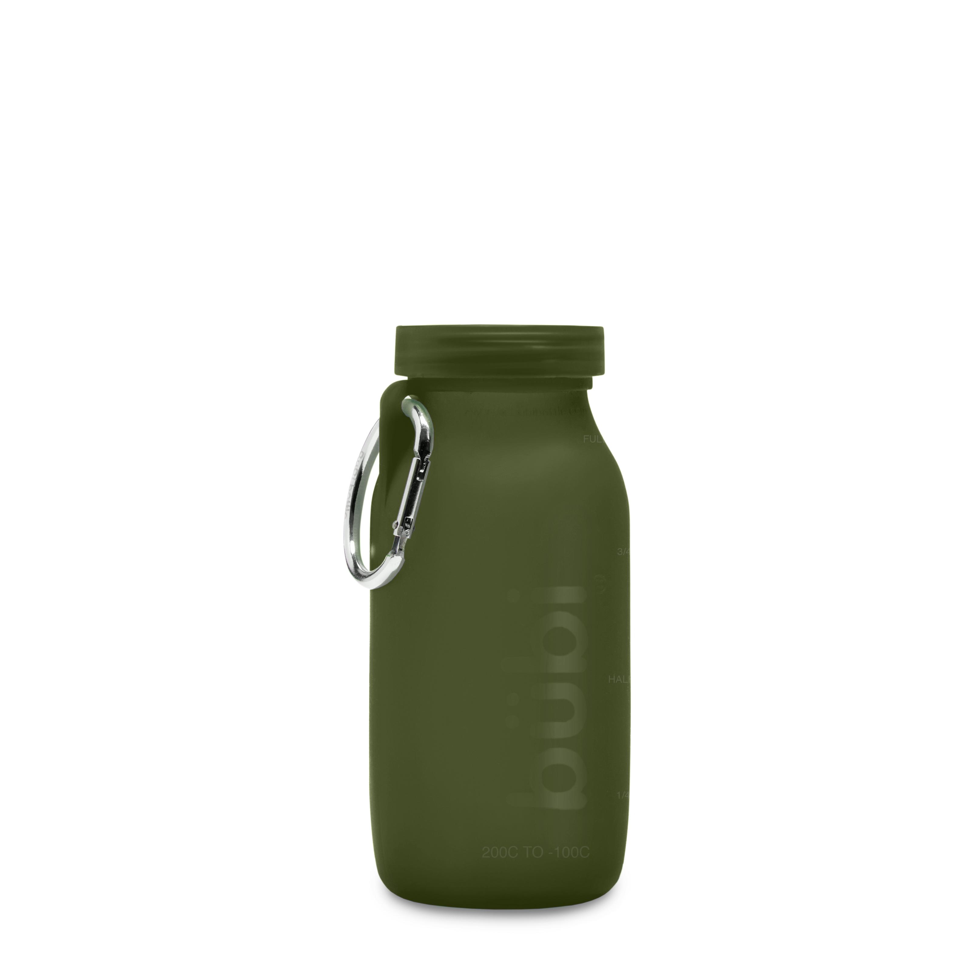 BUBI BOTTLE 矽膠摺疊多功能水壺414ml-海藻綠