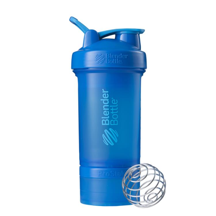 【Blender Bottle】ProStak多層分裝可拆式運動搖搖杯水壺 - 海洋藍