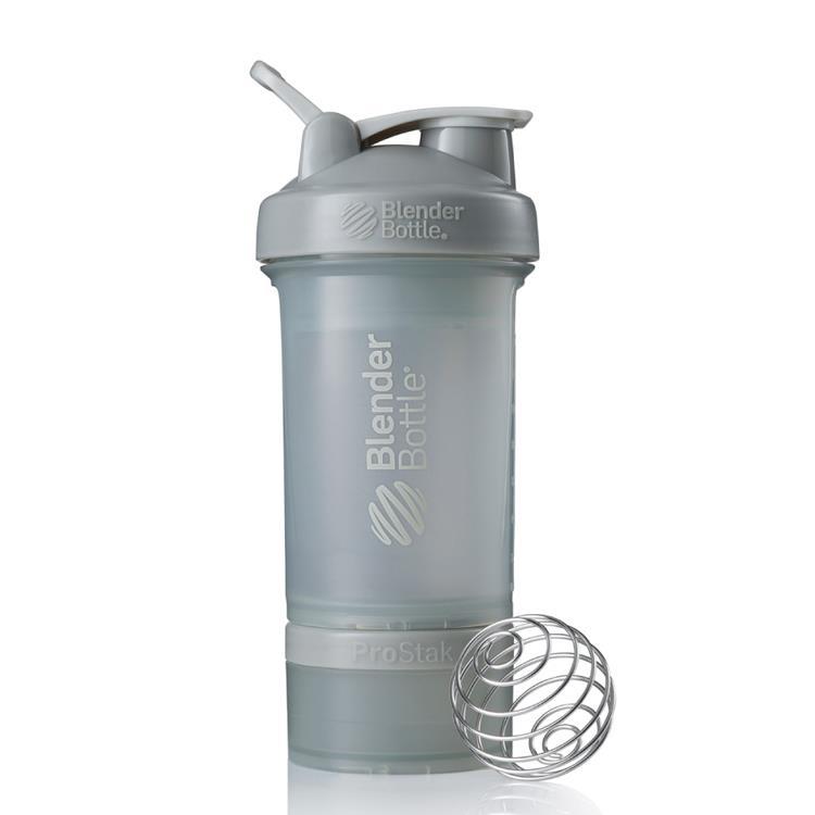 【Blender Bottle】ProStak多層分裝可拆式運動搖搖杯水壺 - 太空灰