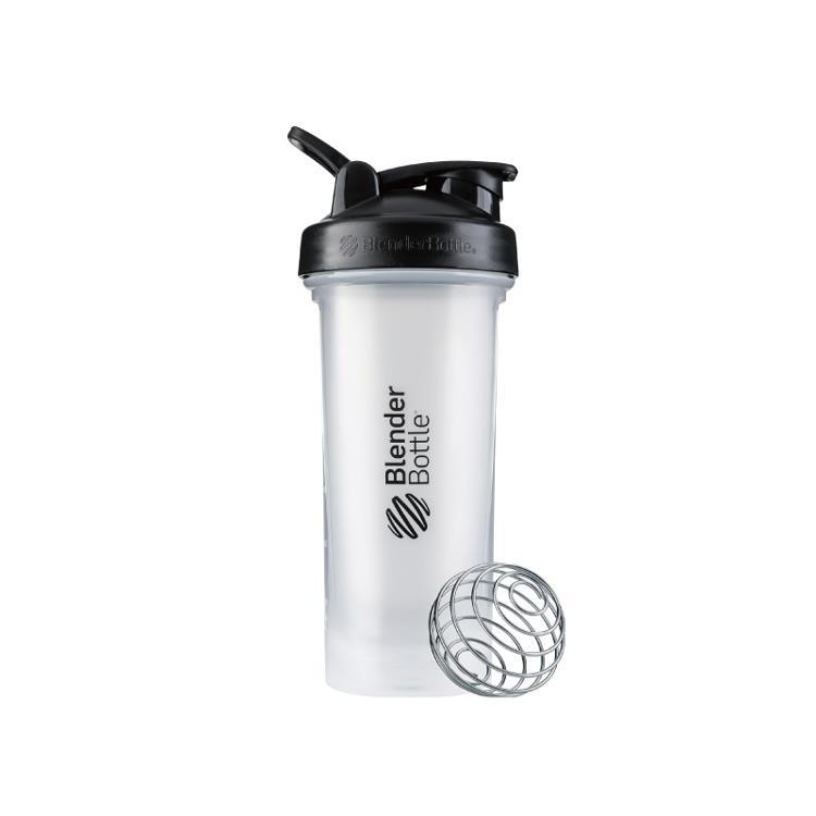 【Blender Bottle】Classic V2系列經典防漏搖搖杯(28oz)-黑蓋白