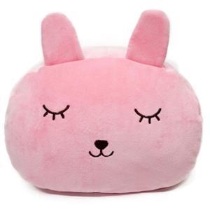 超彈力多功能暖手抱枕/粉兔