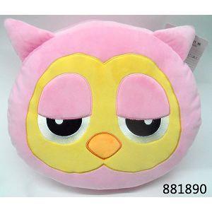 貓頭鷹保暖手枕/粉
