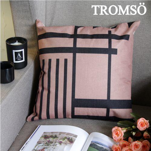 TROMSO 品味英倫棉麻抱枕U87優雅線條