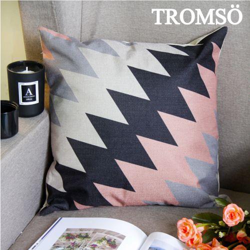TROMSO 品味英倫棉麻抱枕U88優雅菱格