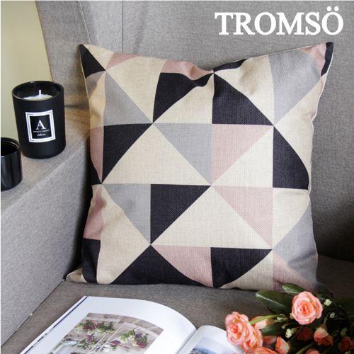 TROMSO 品味英倫棉麻抱枕U89優雅三角