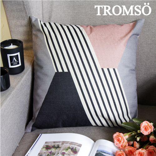 TROMSO 品味英倫棉麻抱枕U90優雅斜紋