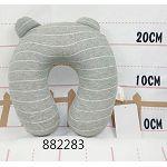 兒童記憶棉護頸枕/淺灰線條