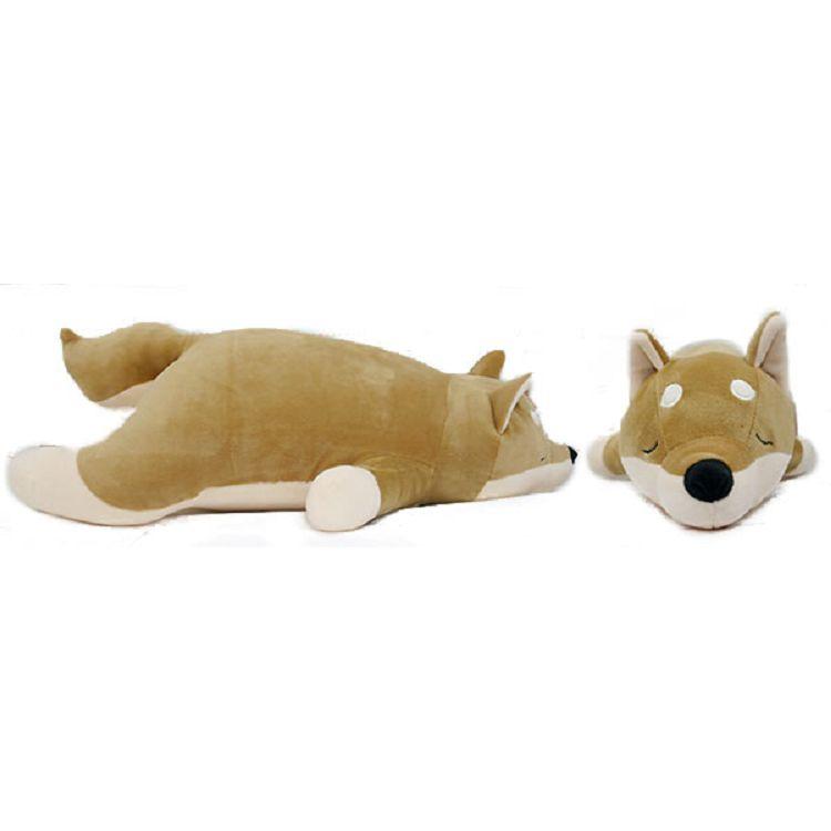 趴姿柴犬多功能枕/淺棕55cm
