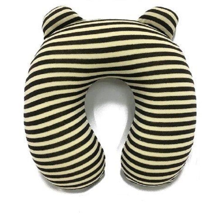 兒童記憶棉護頸枕/綠色線條