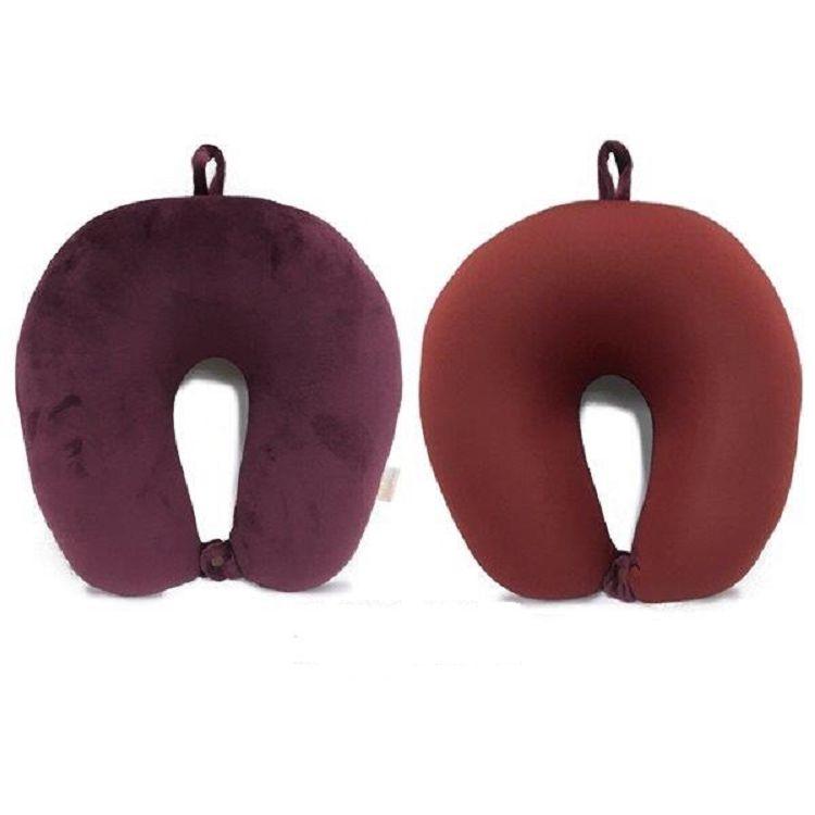 頸部工學U型枕-深紅色