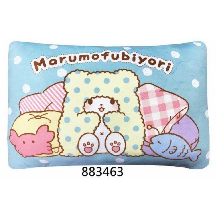 毛毯熊午安枕/藍