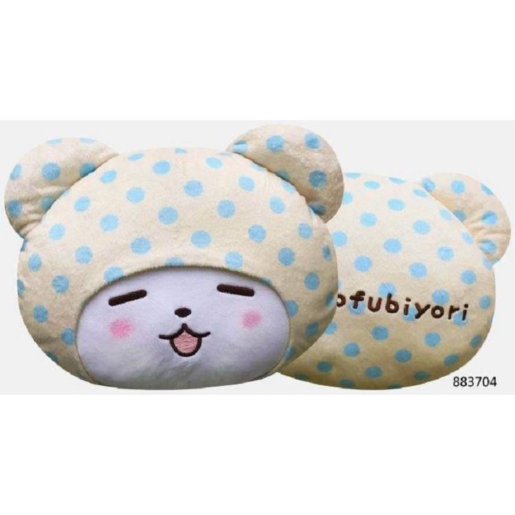 毛毯熊莫普28cm頭型抱枕